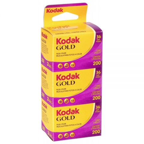 Kodak Gold 200 36 Exposure 35mm Film (3 Pack)