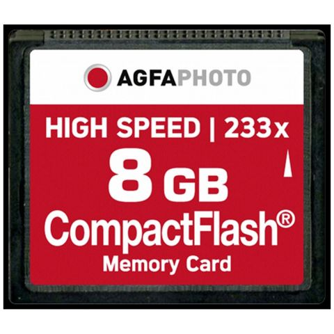 AgfaPhoto 8GB Compact Flash Memory Card