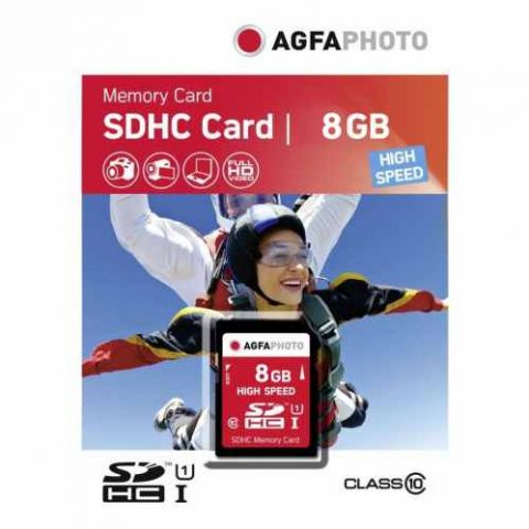 AGFA 8GB SDHC UHS-1 Class 10 Memory Card