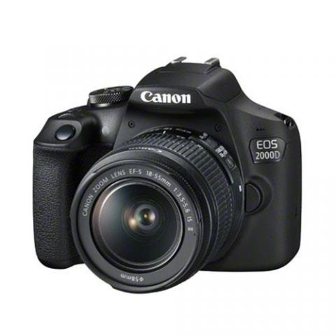 Canon EOS 2000D DSLR Camera with EF-S 18-55mm IS II Lens - FREE UK DELIVERY