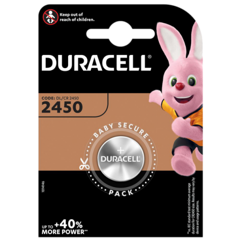 Duracell DL2450 (CR2450) Lithium Coin Cell Battery
