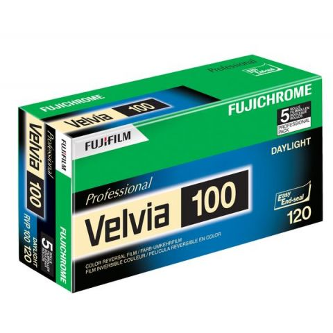 Fuji Velvia 100 120 Roll Film (5 Pack)