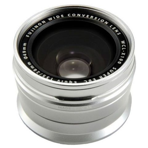 Fujifilm WCL-X100 II Wide Angle Lens - Silver - FREE UK DELIVERY