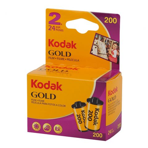 Kodak Gold 200 24 Exposure 35mm Film (Twin Pack)