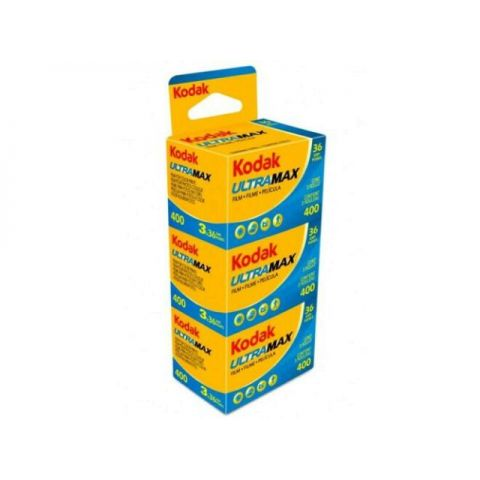 Kodak Ultra Max 400 36 Exp 35mm Colour Print Film (3 Pack)