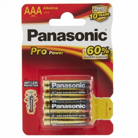 Panasonic Pro Power AAA LR03 Batteries (4 Pack)