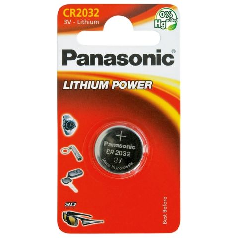 Panasonic CR2032 Lithium Coin Cell Battery